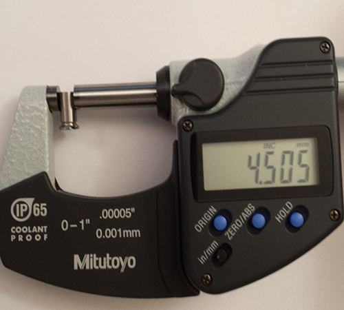 Micrometer, CNC Machining, Measuring CNC Lathe part